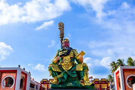 Guan yu Chinese' s god of honesty, Landmark at Koh Samui,Surat Thani,Thailand