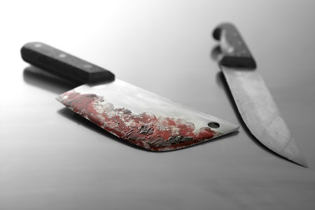 An assassin killing weapon, the bloody knife photo