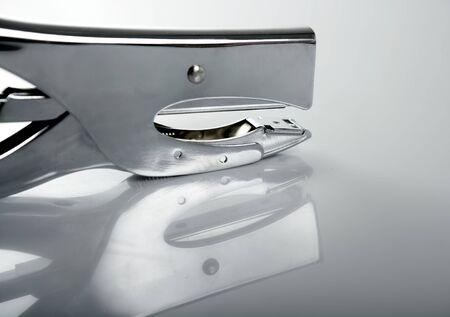 Professional stapler, silver chrome reflex photo