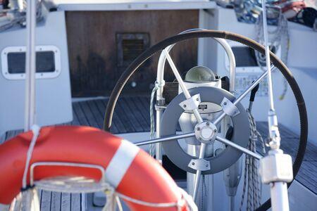 Boats details on mediterranean marina, Spain Stock Photo - 4117606
