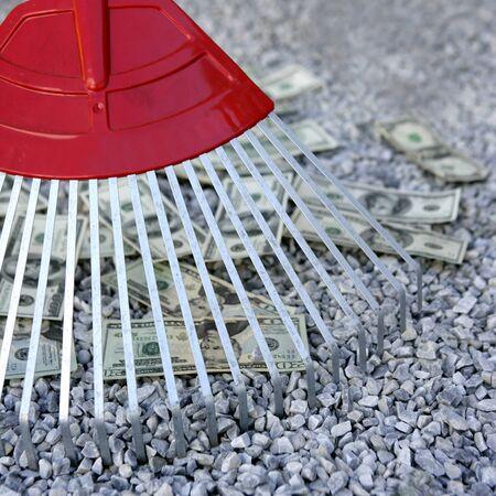 dolar: De limpieza de dinero negro dolar con rastrillo, la met�fora de la abundancia