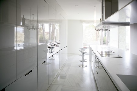 big modern style contemporary architecture white kitchen photo