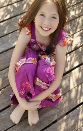 Portrait of beautiful teen girl outdoors in summertime
