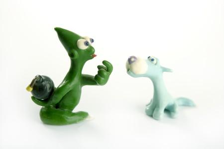 zdradę: dwóch przyjaciół żart zdradę ze strony ukrytych bomb, plastelina zabawki