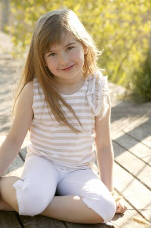 Portrait of beautiful teen girl outdoors in summertime Stock Photo - 4238347