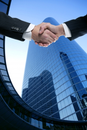 men shaking hands: Businessman teamwork partners shaking hands with suit