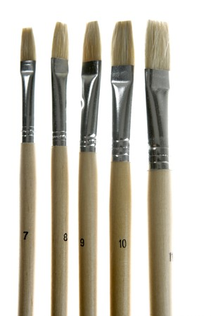 brushes of different thicknesses and sizes for painting photo
