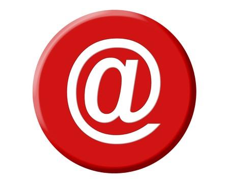 arobase: Red arobase AT web email symbol illustration, internet sign Stock Photo
