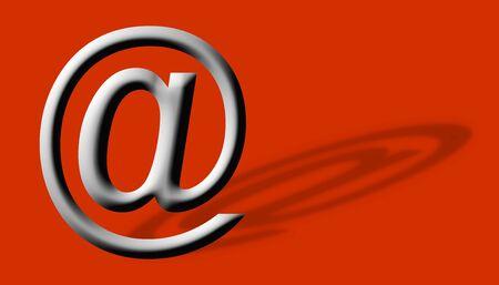 Arobase AT web email symbol illustration, internet sign illustration