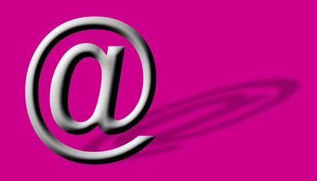 arobase: Arobase AT web email symbol illustration, internet sign