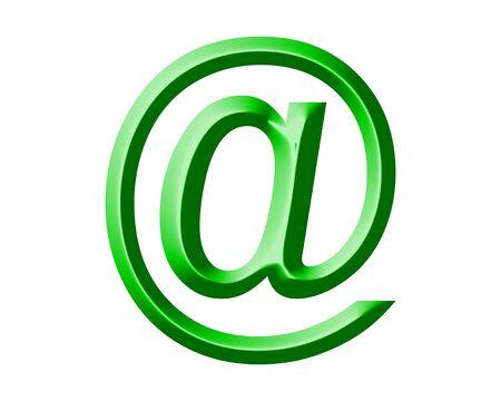 arobase: green arobase AT web email symbol illustration, internet sign
