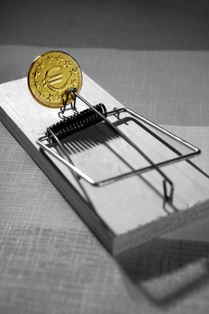 Euro currency business metaphor. Credit money is a mouse trap Stock Photo - 4533779