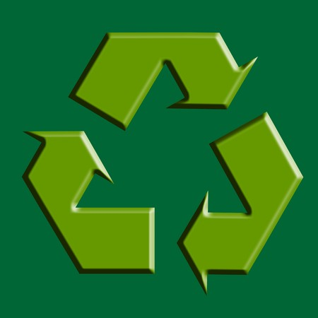 Recycle green symbol illustration, ecology, conservation, planet illustration