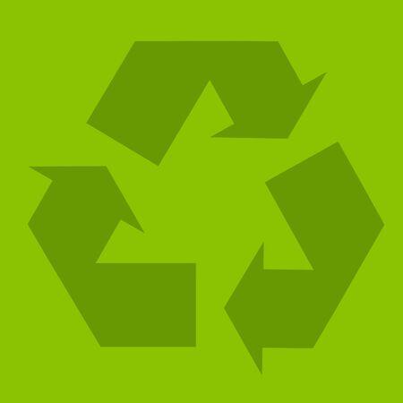 Recycle green symbol illustration, ecology, conservation, planet illustration