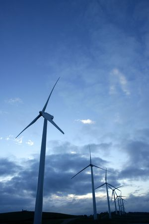 windy energy: Wind mills, aerogenerator, ecological electric energy, environment