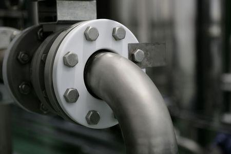 production plant: Tubi industriali connessione dettaglio, impianto di produzione di fabbrica