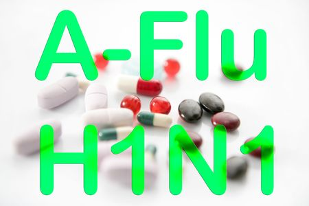 h1n1 vaccine: Medicine pills A h1n1 treatment vaccine health metaphor