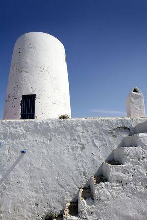 Formentera near Ibiza island white houses Mediterranean architecture photo