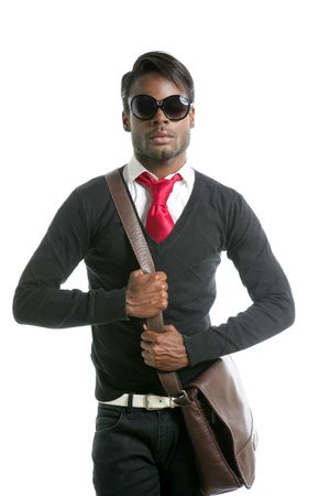 Androginous look black african model fashion look Stock Photo - 5180642