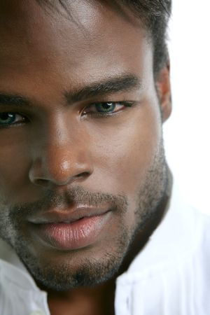 African american cute black young man closeup portrait Stock Photo - 5180632