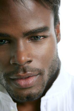 African american cute black young man closeup portrait photo