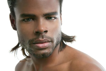 African american cute black young man closeup portrait Stock Photo - 5180629