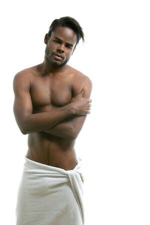 male model torso: African american nude torso black sexy man at studio