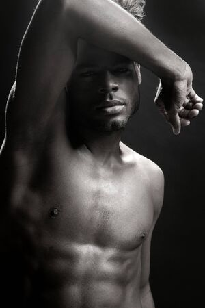 African american nude torso black sexy man at studio Stock Photo - 5180631