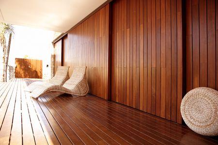Golden Spa casa de madera al aire libre hamaca, de oro relajarse