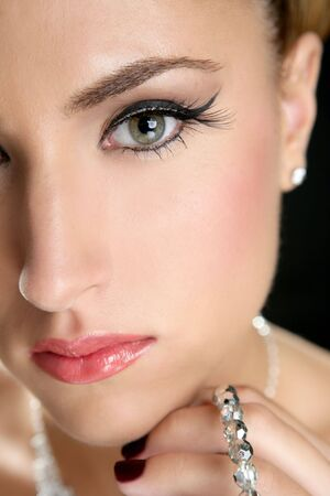 Attractive fashion elegant woman portrait with jewelry photo