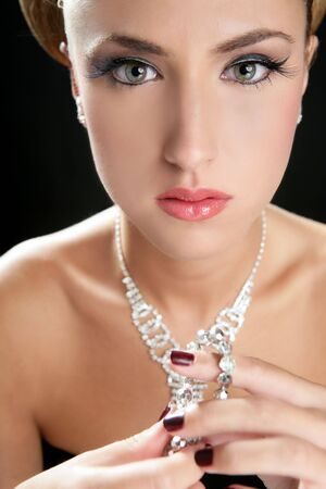 Attractive fashion elegant woman portrait with jewelry Stock Photo - 5675245