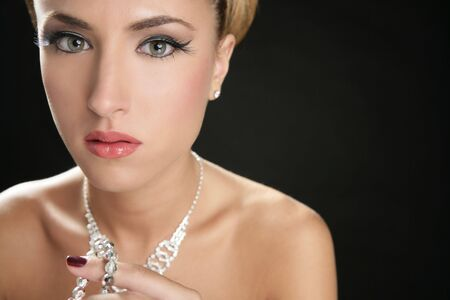 Attractive fashion elegant woman portrait with jewelry Stock Photo - 5725168