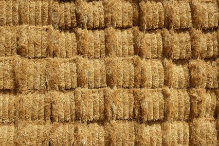 Barn with square shape stack on columns outdoor cereal texture photo