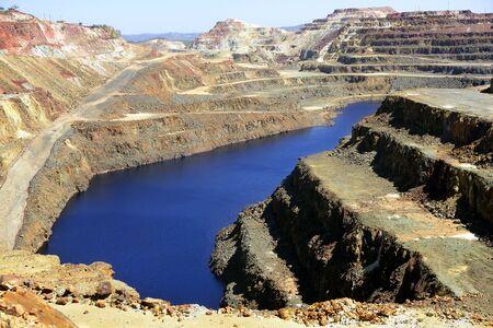 Excavation metal outdoor mine Riotinto in Spain  Stock Photo