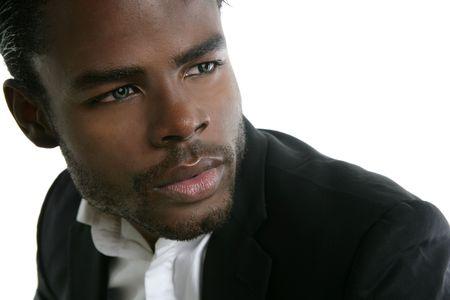 African american cute black young man closeup portrait Stock Photo - 5772683