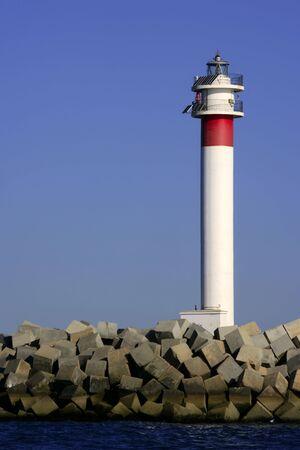 huelva: Lighthouse over blue sky in Huelva Atlantic ocean Spain