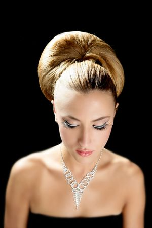 Attractive fashion elegant woman portrait with jewelry Stock Photo - 5897837