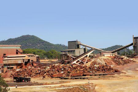 Excavation metal outdoor mine Riotinto in Spain  photo