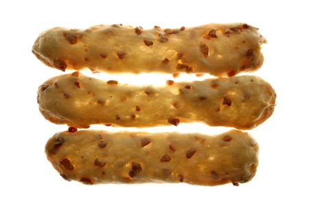 Bakery salted peanut snacks with white transparent background photo