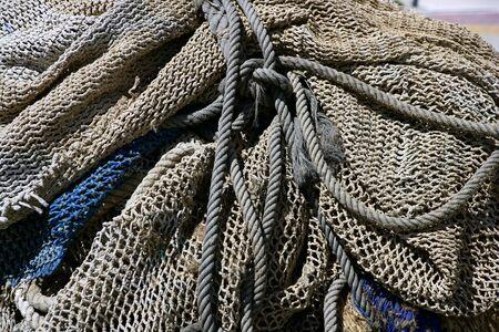 Fishing tacke for professiona net fisherboat in Mediterranean Sea Stock Photo - 6077218