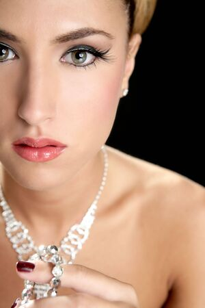 Attractive fashion elegant woman portrait with jewelry Stock Photo - 6077131