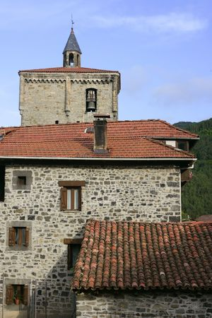 Beautiful stone houses in Spain Pyrinees villages photo