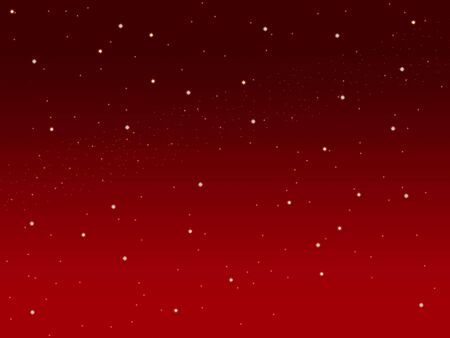 sky metaphor: Christmas red sky illustration background with little stars space view     Stock Photo