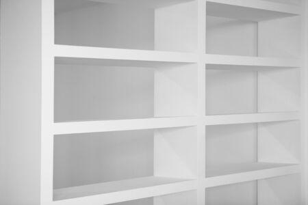 bookshelf in white empty blank shelfs inter house Stock Photo - 6199859