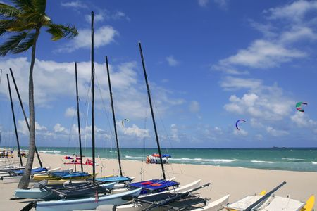 Fort Lauderdale catamaran beach Florida blue sky photo