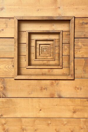 psychedelic wooden window zoom concentric repetitions photo