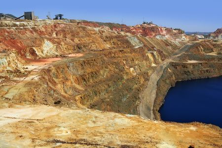 Excavation metal outdoor mine Riotinto in Spain  photo