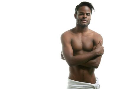 African american nude torso black sexy man at studio Stock Photo - 6384939