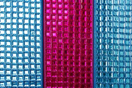 sequins: Colorful sequins macro closeup texture background sewed fabric Stock Photo