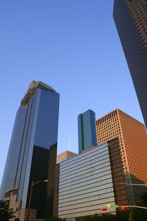 Houston downtown city urban buildings skyscraper Texas photo